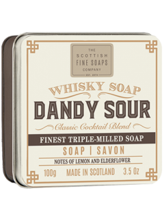 Scottish Fine Soaps Whisky Cocktail Dandy Sour Soap Bar In Gift Tin